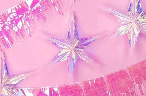 Suspension étoile décorative 40 cm - irisé