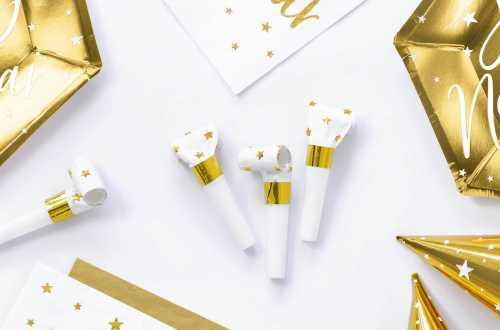 6 Sans-gênes - blanc étoile doré