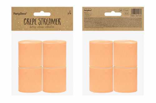 4 Rouleaux de papier crépon - orange pastel