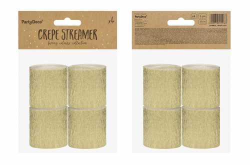 4 Rouleaux de papier crépon - doré