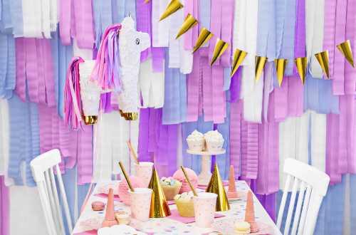 4 Rouleaux de papier crépon - violet pastel