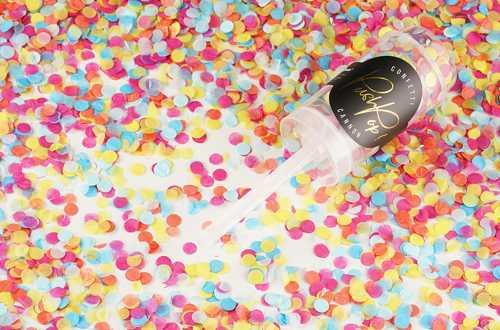 Lanceur de confettis nuance pastel