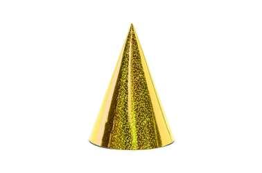 6 Chapeaux de fête - holographique doré