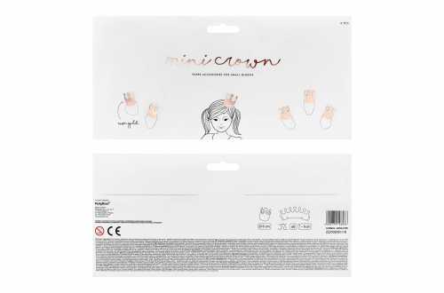 6 Mini couronnes de fête - rose (6 cm)