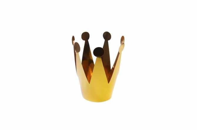 3 Mini couronnes de fête - doré (7 cm)