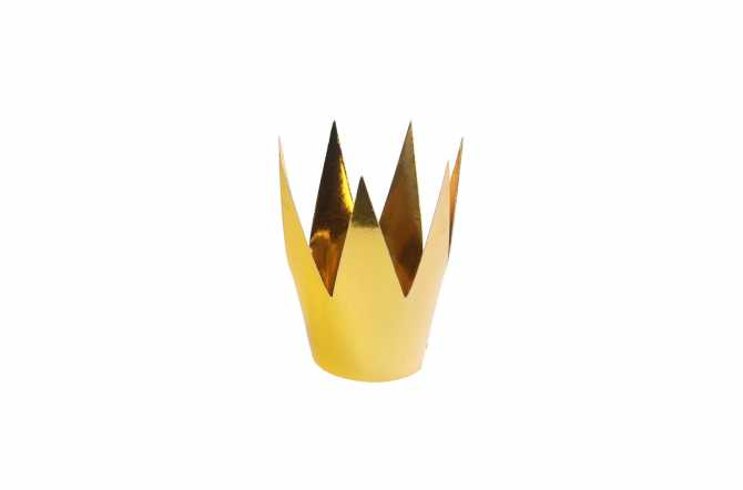 3 Mini couronnes de fête - doré (5,5 cm)
