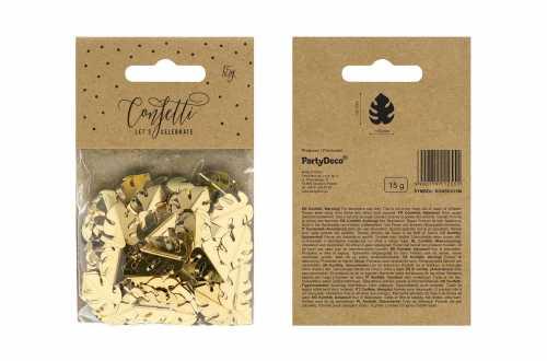 Confettis feuilles tropicales - doré