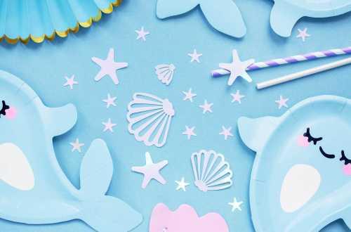 Confettis coquillages et étoiles - irisé