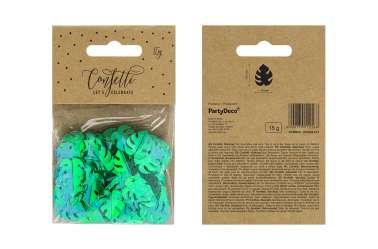 Confettis feuilles tropicales - vert