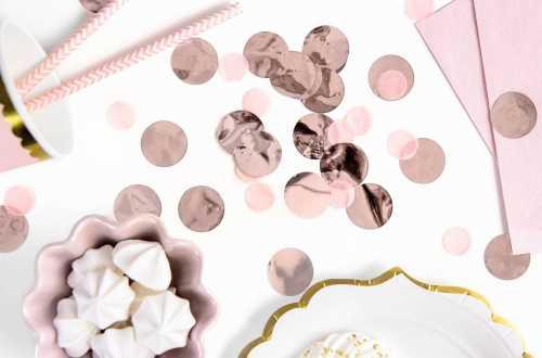 Confettis cercle - rose