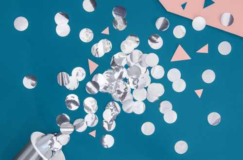Confettis cercle - argenté