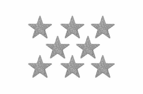 8 Confettis étoiles pailletés - argenté