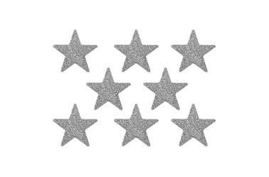 8 Confettis étoiles - argenté paileté