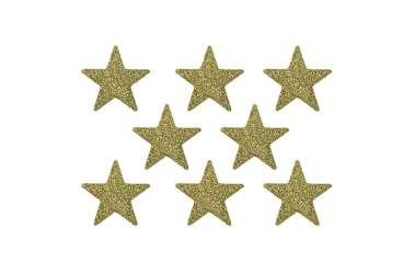 8 Confettis étoiles - doré pailleté