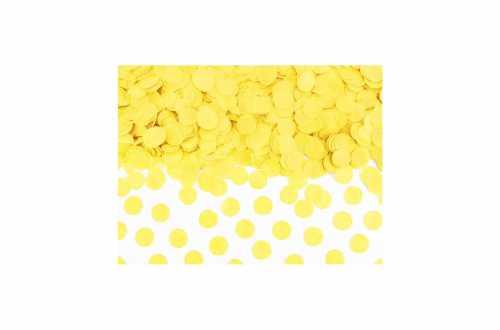 Confettis cercle - jaune pastel