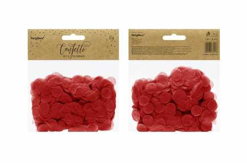 Confettis cercle - rouge pastel