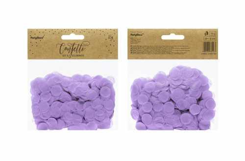 Confettis cercle - violet pastel