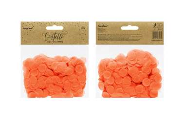 Confettis cercle - orange