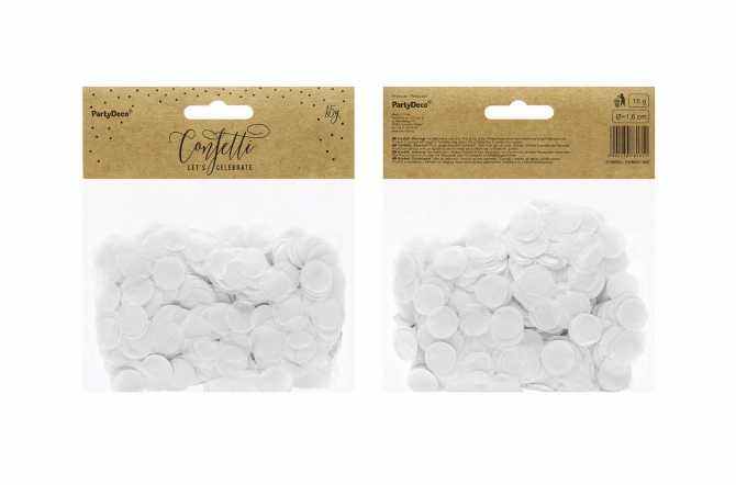 Confettis cercle - blanc