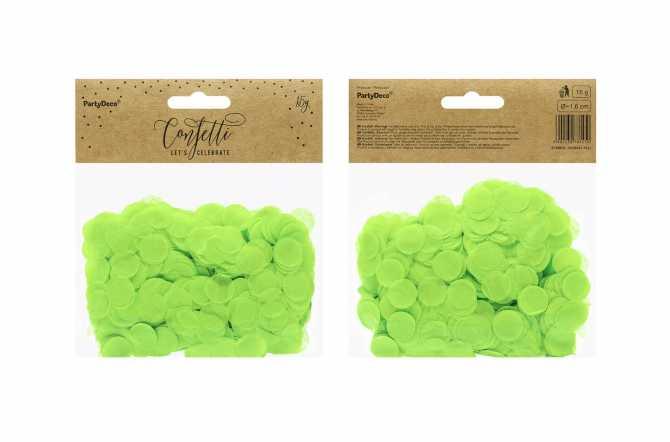 Confettis cercle - vert
