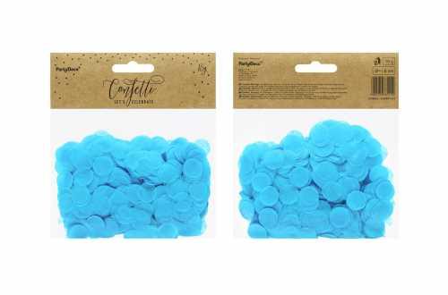 Confettis cercle - bleu