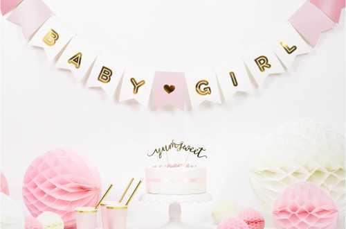 Guirlande bannière Baby girl – 1,75 m