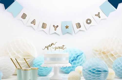 Guirlande bannière Baby boy – 1,6 m