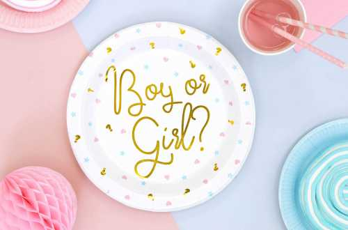 6 assiettes Boy or Girl