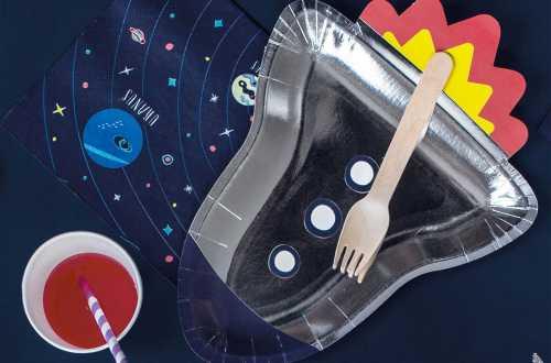 6 Assiettes fusée