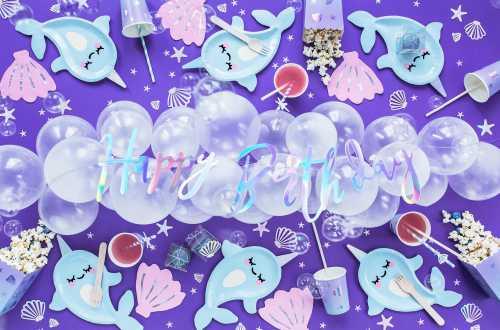 20 serviettes coquillage – Rose et irisé