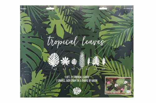 21 Feuilles tropicales - nuances de vert