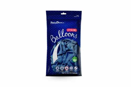 10 Ballons de baudruche - bleu barbeau pastel