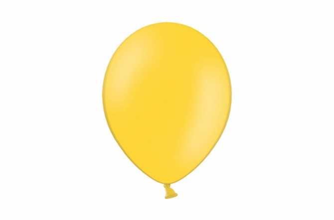 10 Ballons de baudruche - jaune miel pastel