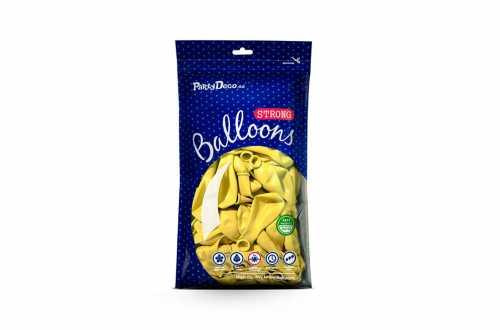 10 Ballons de baudruche - jaune lemon pastel