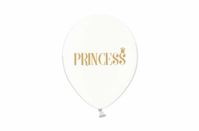 6 Ballons transparents imprimés - Princess