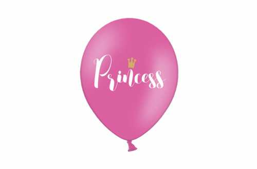6 Ballons rose bonbon - Princess