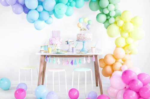 10 Ballons de baudruche -rose pâle pastel