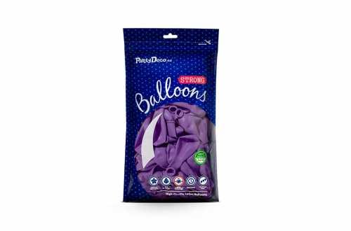 10 Ballons de baudruche - bleu lavande pastel