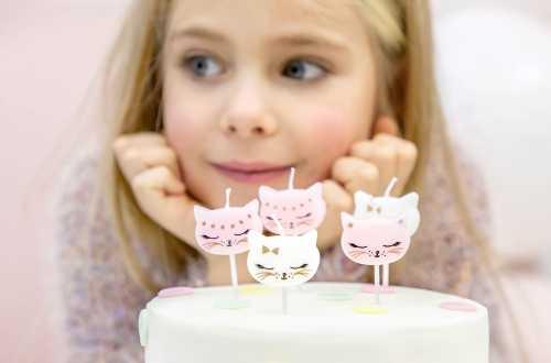 6 Petites bougies chats
