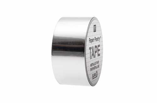 Masking tape métallisé argenté