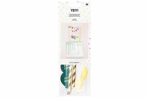 Set de décoration joyeux anniversaire multicouleurs - DIY