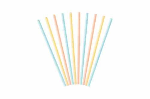 Lot de 10 pailles pastels- 19.5cm