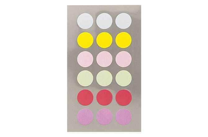 Autocollants ronds - couleurs pastels