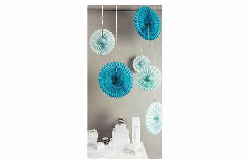 3 Rosaces décoratives – bleu pastel