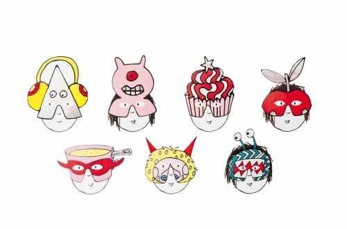 7 Masques Mini Monstres