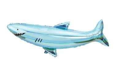Ballon géant Requin bleu holographique a cordon