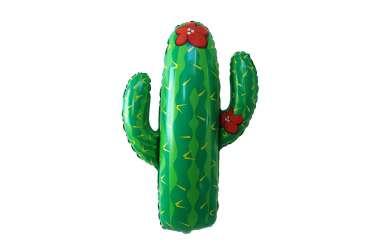 Grand ballon aluminium Cactus - 104 cm