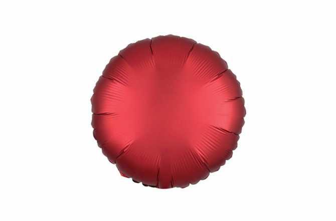 Ballon aluminium Pastille rouge satiné mat - 40 cm