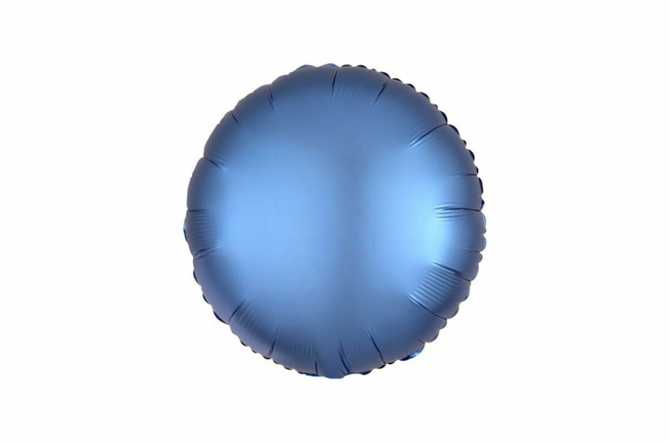 Ballon aluminium Pastille bleu azur satiné mat - 40 cm