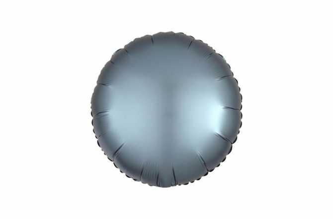 Ballon aluminium Pastille bleu acier satiné mat - 40 cm
